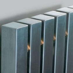 AEON Radiators - Kare Floor Standing Brushed Stainless Steel Radiators