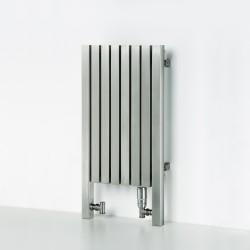 AEON Radiators - Dalya Floor Standing Brushed Stainless Steel Radiators