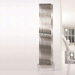 AEON Radiators - Twister 720° Brushed & Polished Stainless Steel Radiators