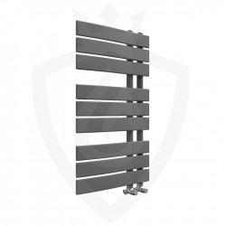 Arabella Anthracite Designer Towel Rail - 500 x 800mm