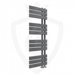 Arabella Anthracite Designer Towel Rail - 500 x 1200mm