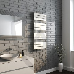 Arabella Latte Designer Towel Rail - 500 x 1200mm - Insitu