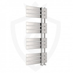 Arabella Chrome Designer Towel Rail - 500 x 1200mm