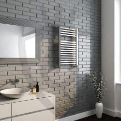 Crown Chrome Designer Towel Rail - 500 x 800mm - Insitu