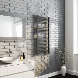 Crown Anthracite Designer Towel Rail - 500 x 1200mm - Insitu