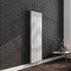 Imperial White Designer Radiator - 437 x 1800mm - Insitu
