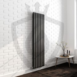 Imperial Anthracite Designer Radiator - 437 x 1800mm - Insitu