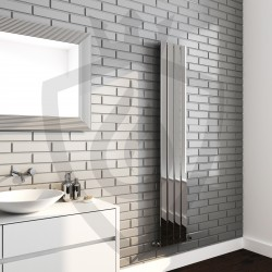 Sultan Chrome Designer Radiator - 300 x 1800mm - Insitu