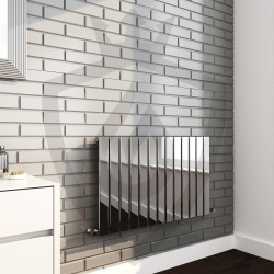 Sultan Chrome Designer Radiator - 1000 x 600mm - Insitu