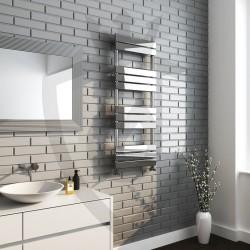 Roma Chrome Designer Towel Rail - 500 x 1300mm - Insitu