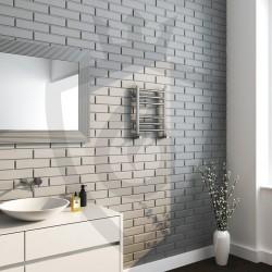 Polished Stainless Steel Towel Rail - 350 x 430mm - Insitu