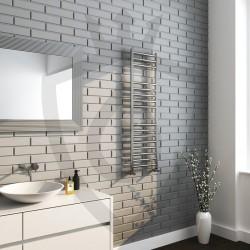 Polished Stainless Steel Towel Rail - 350 x 1200mm - Insitu