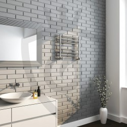 Polished Stainless Steel Towel Rail - 500 x 430mm - Insitu