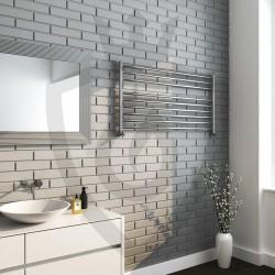 Polished Stainless Steel Towel Rail - 1200 x 600mm - Insitu
