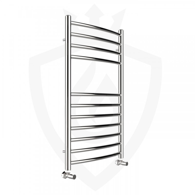 Curved Polished Stainless Steel Towel Rail - 500 x 800mm