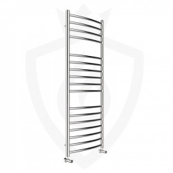 Curved Polished Stainless Steel Towel Rail - 500 x 1200mm
