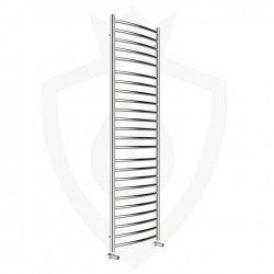 Curved Polished Stainless Steel Towel Rail - 500 x 1500mm