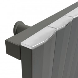 Cubo Anthracite Electric Radiator - 404 X 1800mm