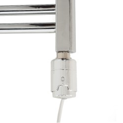 RICA Atlantis White Thermostatic Electric Heating Element - Installed