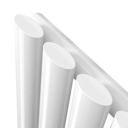 Queen White Designer Radiator - 630 x 1800mm - Closeup