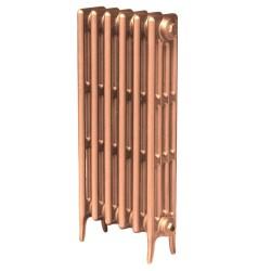Victoriana 4 Column Cast Iron Radiator - 813mm High - 3 Quarter View Copper