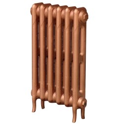 Pimlico 2 Column Cast Iron Radiator - 660mm High - Copper