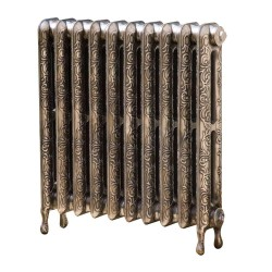 Kensington 2 Column Cast Iron Radiator - 750mm High - Polished Finish