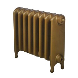 Clarendon Cast Iron Radiator - 440mm High - Aged Gold