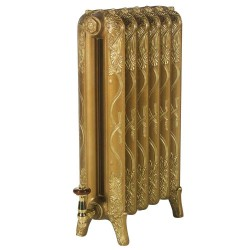 Piccadilly Cast Iron Radiator - 760mm High - Sovereign Gold Base With Bright Gold Highlight
