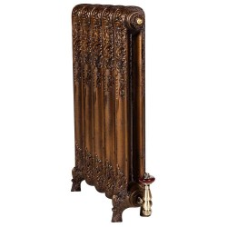 Shaftsbury Cast Iron Radiator - 740mm High - Antiqued Aged Gold
