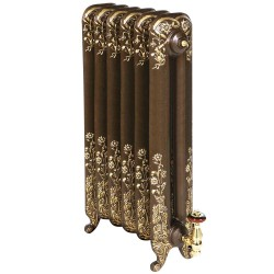 Montpellier Cast Iron Radiator - 790mm High - Old Penny with a Bright Gold Highlight
