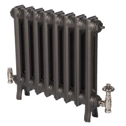 Neo Georgian 2 Column Cast Iron Radiator - 490mm High - Natural Cast