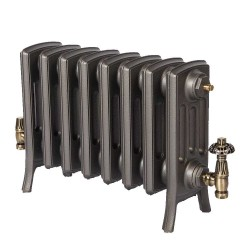 Neo Georgian 4 Column Cast Iron Radiator - 360mm High - Natural Cast