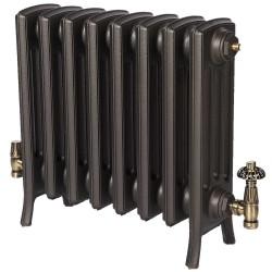 Neo Georgian 4 Column Cast Iron Radiator - 475mm High - Natural Cast