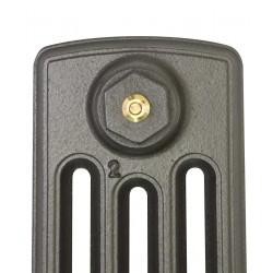 Neo Georgian 4 Column Cast Iron Radiator - 475mm High - Profile View