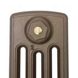 Neo Georgian 4 Column Cast Iron Radiator - 760mm High - Profile View