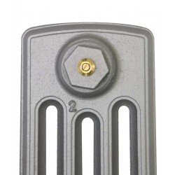 Neo Georgian 4 Column Cast Iron Radiator - 960mm High - Profile View