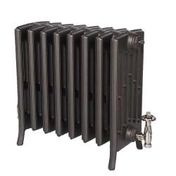 Neo Georgian 6 Column Cast Iron Radiator - 485mm High - Natural Cast
