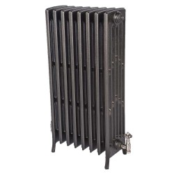 Neo Georgian 6 Column Cast Iron Radiator - 960mm High - Natural Cast