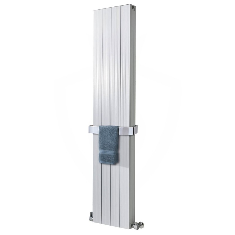 Sovereign White Double Aluminium Radiator - 375 x 1800mm