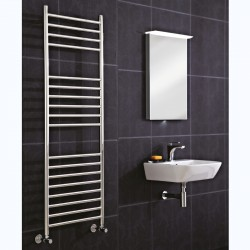 Polished Stainless Steel Towel Rail - 500 x 1400mm - Closeup