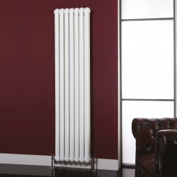 Imperial White Designer Radiator - 437 x 1800mm - Installed