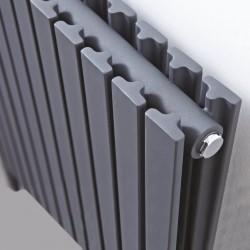 Axim Anthracite Designer Radiator - 588 x 800mm - Closeup