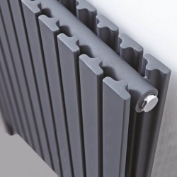 Axim Anthracite Designer Radiator - 1000 x 800mm - Closeup