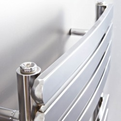 Ceasar Chrome Designer Towel Rail - 500 x 1200mm - Insitu Closeup