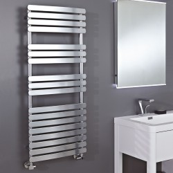 Ceasar Chrome Designer Towel Rail - 500 x 1200mm - Insitu