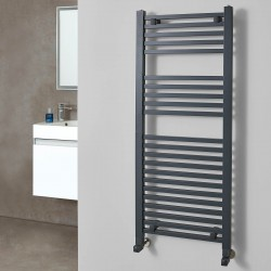 Crown Anthracite Designer Towel Rail - 500 x 1200mm
