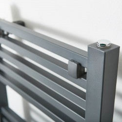 Crown Anthracite Designer Towel Rail - 500 x 1200mm - Closeup
