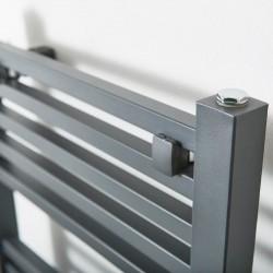Phoenix Sophia Anthracite Designer Towel Rail - 500 x 1200mm - Closeup