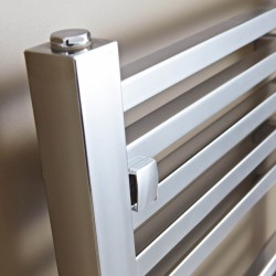 Crown Chrome Designer Towel Rail - 500 x 1800mm - Closeup